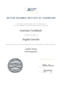 BCIT Associate Certificate in Graphic Design with Distinction 2014-06